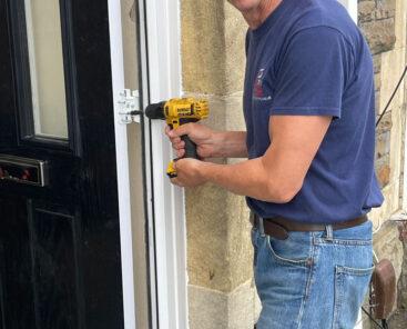 Replacing hinges on composite doors